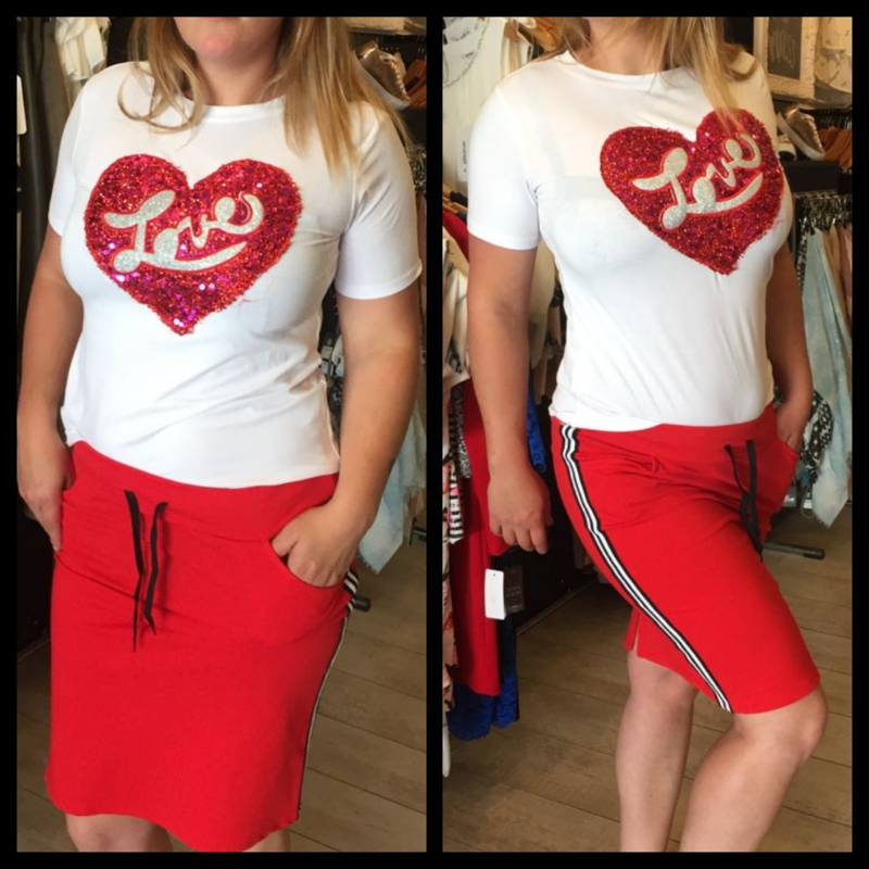 Shirt hart rood love