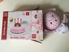 Taartset verjaardag roze
