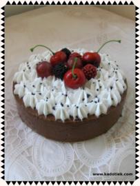Vruchten chocolade cake taartje