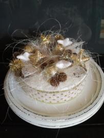 Kerst taart goud