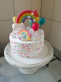 Verjaardag regenboogtaart