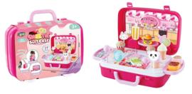 Luna winkel snoep en ijs koffer roze