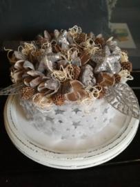 Kerst taart grijs ster