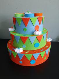 Vilt taart jongens