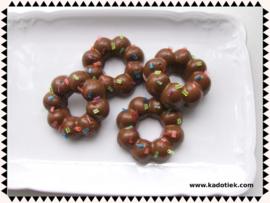 Chocolade kransjes met spikkels