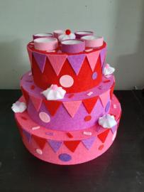 Vilt taart meisjes