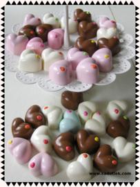 Kawaii bonbons hart