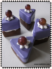 Cake gebakje blauwe druif