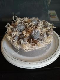 Kerst taart grijs