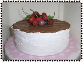 Chocolade vruchten taart