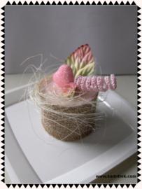 Roze/Goud landelijk gebakje