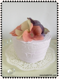 Herfst cupcake lila - a