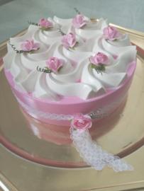 Brocante bloem taart