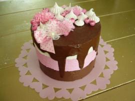 3-laags chocolade driptaart