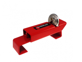 DoubleLock Trailer Lock Red Medium
