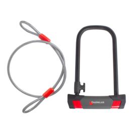 DoubleLock Beugelslot U-Lock 230/14 Cable ART