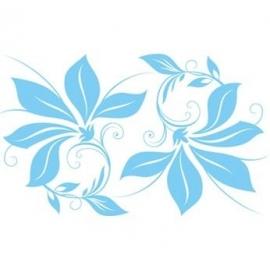 ES014 Etalagesticker raamband bloem 3