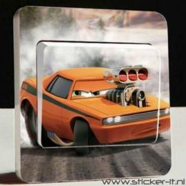 Lichtschakelaar sticker Cars 8