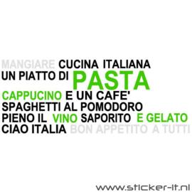 HS005 Muursticker Italiaans restaurant