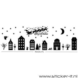 Kerstmis raamsticker