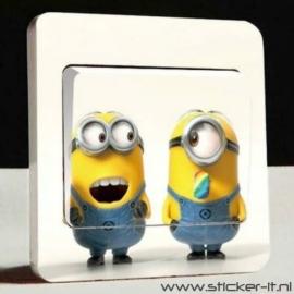 Lichtschakelaar sticker Minions 1