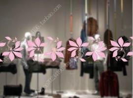ES013 Etalagesticker raamband bloem 2