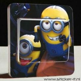 Lichtschakelaar sticker Minions 2