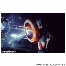 Poster Sticker Captain Amecrica