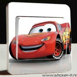 Lichtschakelaar sticker Cars 4