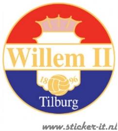 AV012 Auto Voetbal sticker Willem II