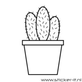BD057 cactus muursticker