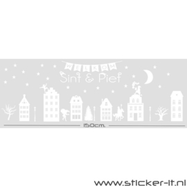 Sinterklaas raamsticker 150cm!