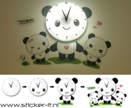 KS036 Panda LED wandklok