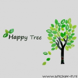3D sticker - happy tree - div. afmetingen