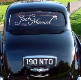 "HW001 Sticker ""just married"" 1"