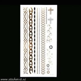 FT003 Flash tattoo zilver / goud