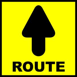 Route sticker vierkant