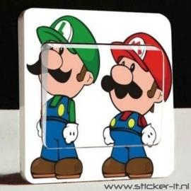 Lichtschakelaar sticker Mario Bros 4