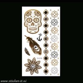 FT030 Flash tattoo zilver / goud