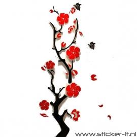 3D sticker - Bloemenplant - div. kleuren/afmetingen