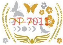 JT-7011 Flash tattoo zilver/goud