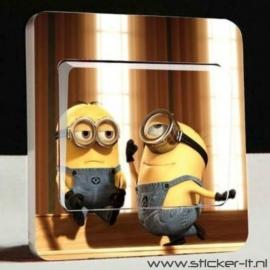 Lichtschakelaar sticker Minions 7