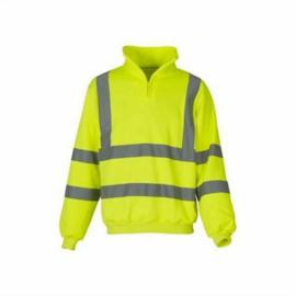 Hi-Vis Fluo 1/4 Zip Sweat Shirt