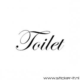 Toilet (div. lettertypen, afmetingen en kleuren)