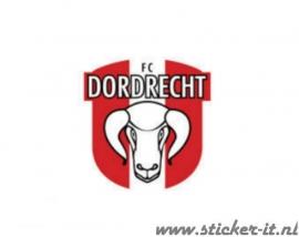 AV013 Auto Voetbal sticker FC Dordrecht