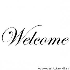 Welcome (div. lettertypen, afmetingen en kleuren)