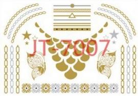 JT-7007 Flash tattoo zilver/goud