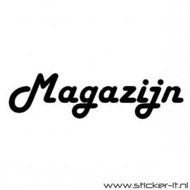 Magazijn (div. lettertypen, afmetingen en kleuren)