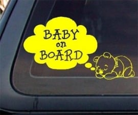 AB004 Autosticker baby on board 4