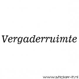 Vergaderruimte (div. lettertypen, afmetingen en kleuren)